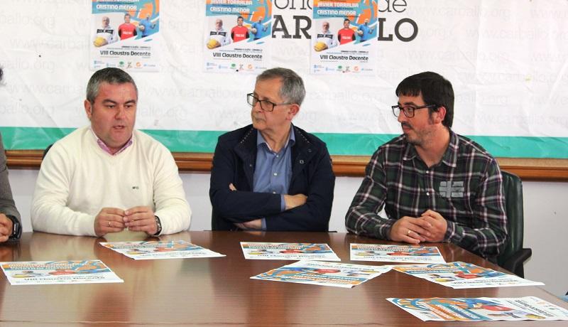 Carlos Colinas, Evencio Ferrero e Marcos Trigo, na presentación