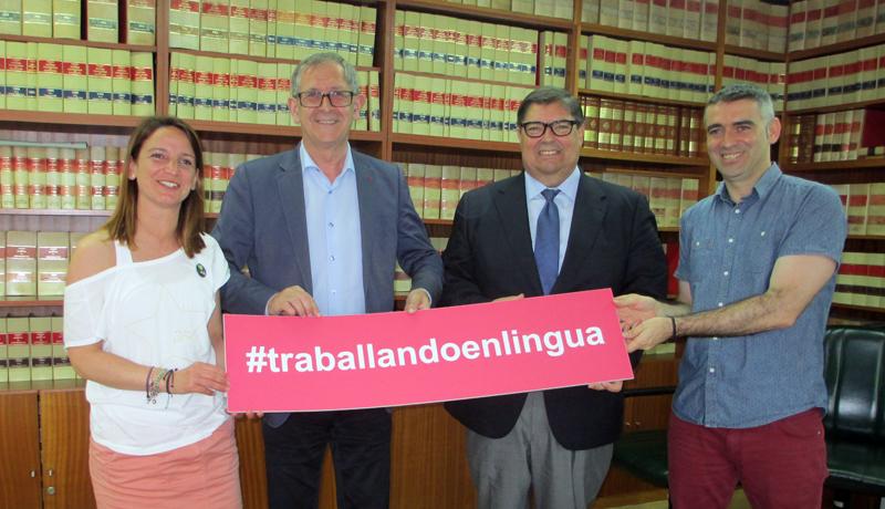 UDC e o Alcalde asinan o convenio que permitirá que Traballando en lingua reflexione sobre o papel do galego no ámbito empresarial
