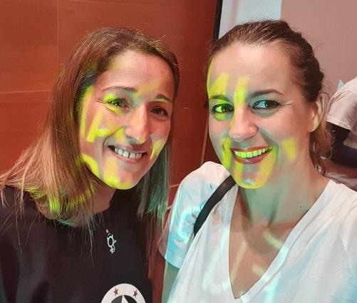 Lupe Blanco, presentadora do acto, e Maruxa Suárez