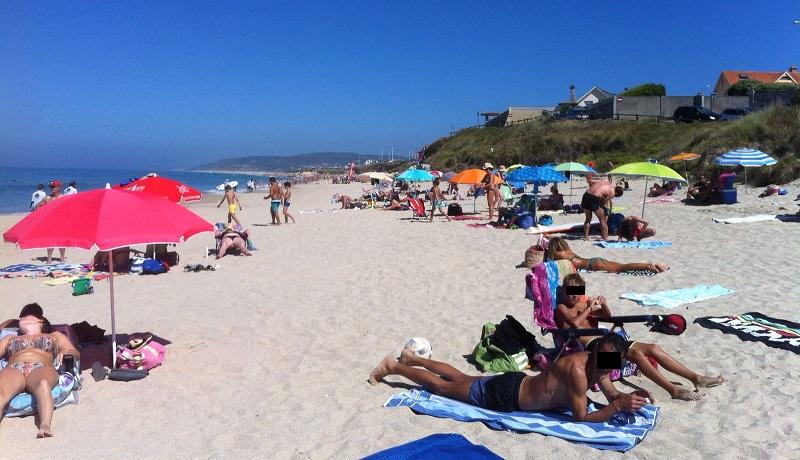 Imaxe da praia de Razo correspondente ao 22 de agosto