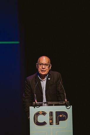 O concelleiro Xosé Regueira, na gala de clausura