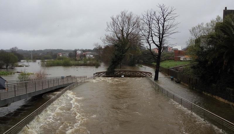 Imaxe de arquivo de inundacións na Ponte