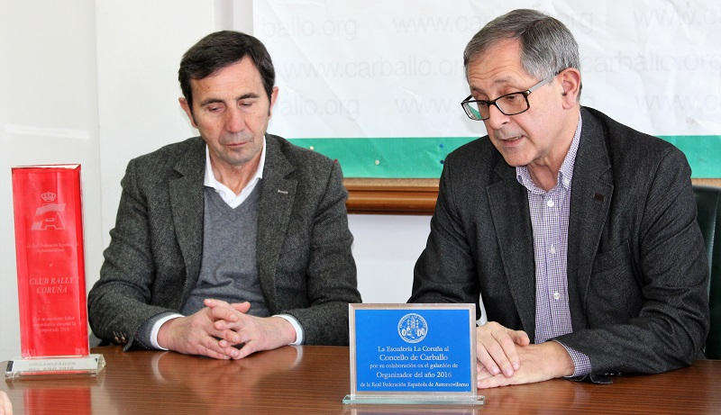 Ernesto Rumbo e Evencio Ferrero, cos trofeos