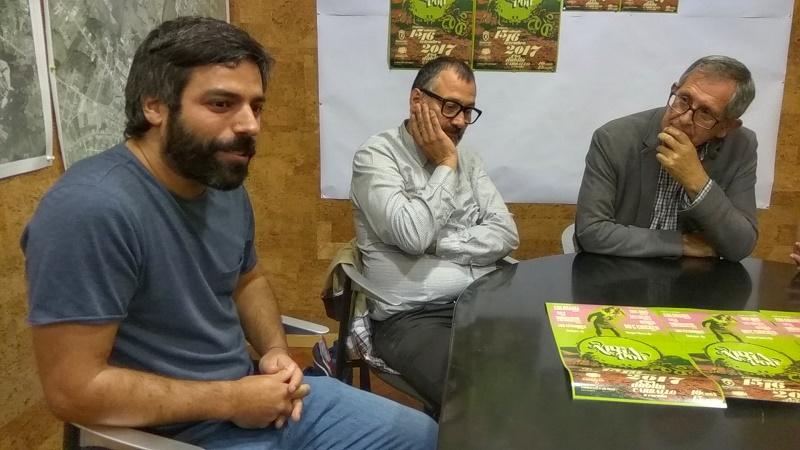Maikel Pérez Castro, Xabier Graña e Evencio Ferrero, na presentación