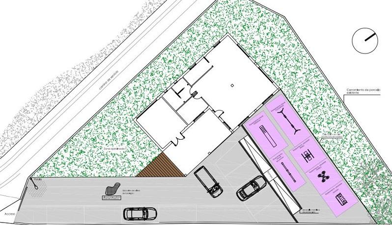 Plano da urbanización exterior